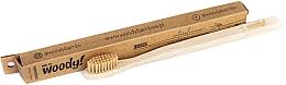 Profumi e cosmetici Spazzolino da denti in bambù, setole medie, beige - WoodyBamboo Bamboo Toothbrush Natural