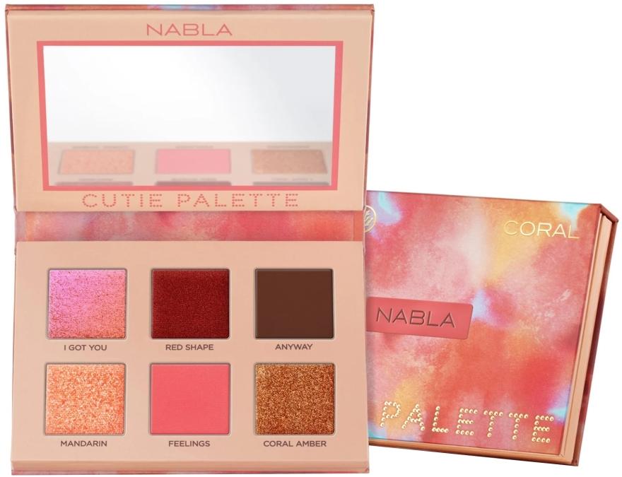 Palette di ombretti - Nabla Cutie Collection Palette Coral