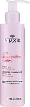 Profumi e cosmetici Latte detergente con petali di rosa per viso, occhi e labbra - Nuxe Comforting Cleansing Milk With Rose Petals