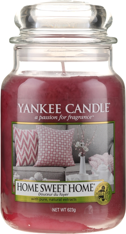 "Candela profumata in vetro ""Casa dolce casa"" - Yankee Candle Home Sweet Home"