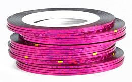 Profumi e cosmetici Nastro adesivo olografico per nail art, rosa - Deni Carte