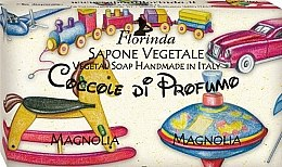 "Profumi e cosmetici Sapone naturale per bambini ""Magnolia"" - Florinda Sapone Vegetale Magnolia Vegetal Soap Handmade"