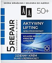 """Profumi e cosmetici Crema viso rassodante, """"Lifting attivo"""" 50+, da giorno - AA Age Technology 5 Repair Day Cream 50+"""