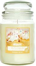 "Profumi e cosmetici Candela profumata ""Torta alla vaniglia"" - Airpure Jar Scented Candle Vanilla Cupcake"