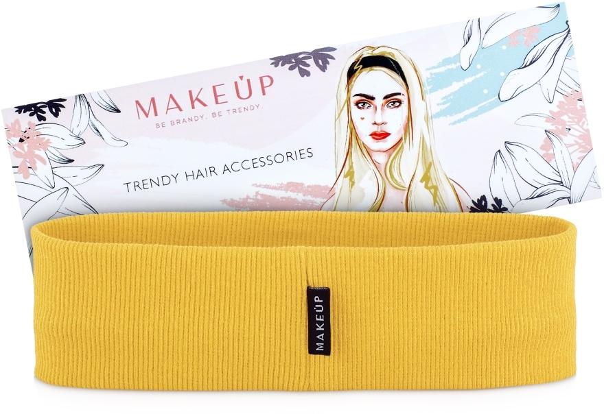 """Fascia per capelli, gialla """"Be Beauty"""" - MakeUp"""