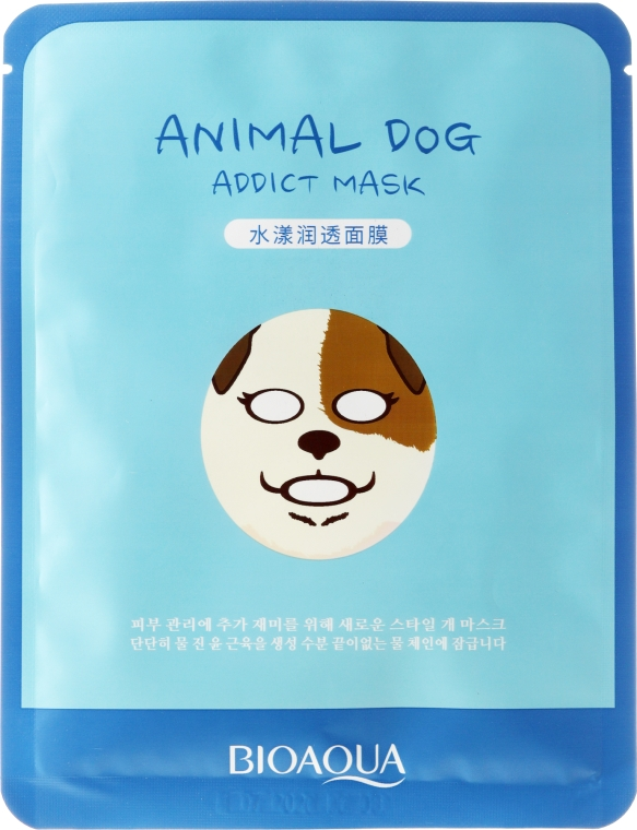 "Maschera in tessuto per viso a forma di animale ""Cane"" - Bioaqua Animal Dog Addict Mask"