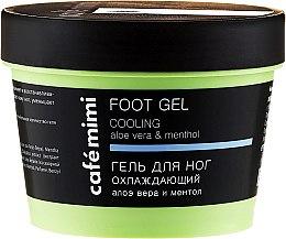 """Profumi e cosmetici Gel per piedi """"Rinfrescante"""" con aloe vera e mentolo - Cafe Mimi Foot Gel Cooling Aloe Vera & Menthol"""