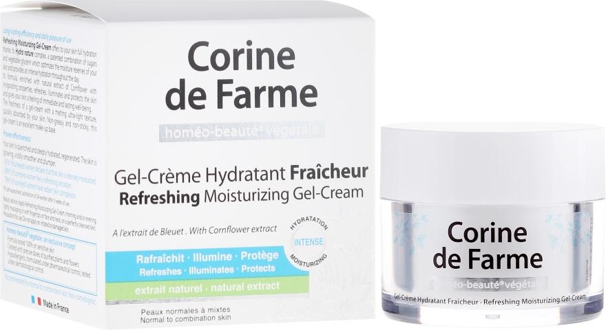 Crema-gel idratante rinfrescante per pelli normali e miste - Corine de Farme