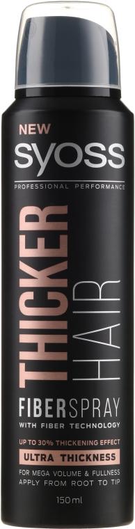 Spray per l'ispessimento dei capelli con tecnologia Fiber - Syoss Thicker Hair Spray
