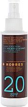 Profumi e cosmetici Olio abbronzante - Korres Clear Sunscreen Body Face Walnut Coconut Oil SPF20