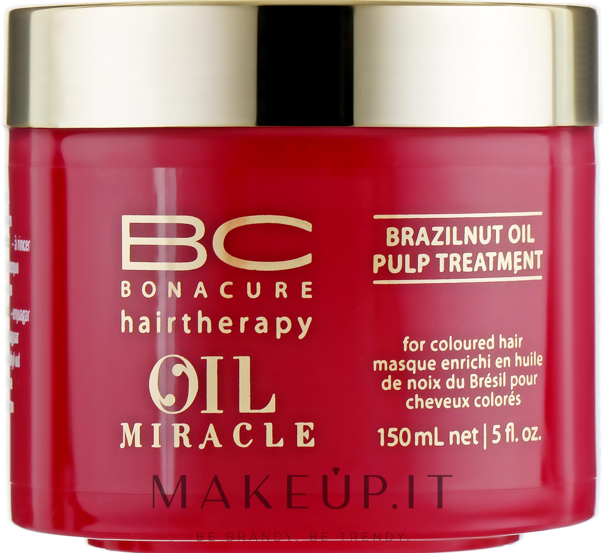 Maschera con olio di noce brasiliana - Schwarzkopf Professional Bonacure BC Miracle Brazilnut Oil Pulp Treatment — foto 150 ml