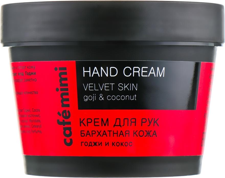 """Crema mani """"Pelle di velluto"""" goji e cocco - Cafe Mimi Hand Cream Velvet Skin"""