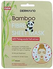 Profumi e cosmetici Maschera viso in fibra di bambù con melograno - Derma V10