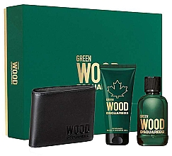 Profumi e cosmetici Dsquared2 Green Wood Pour Homme - Set (edt/100ml + sh/gel/100ml + wallet)