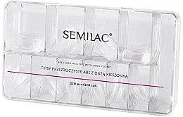 Profumi e cosmetici Tips per unghie - Semilac Tips Box Klar