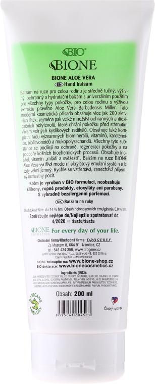 Balsamo mani idratante - Bione Cosmetics Aloe Vera Nourishing Hand Ointment With Collagen — foto N2