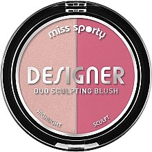 Profumi e cosmetici Blush contouring - Miss Sporty Draping Designer Duo Sculpting Blush