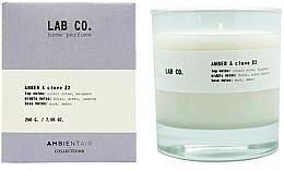 Profumi e cosmetici Candela profumata - Ambientair Lab Co. Amber & Clove