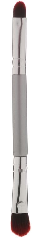 Pennello per ombretti, doppio 35739, grigio - Top Choice