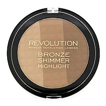 Bronzer-illuminante viso - Makeup Revolution Ultra Bronze, Shimmer and Highlight — foto N1