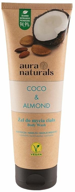 """Gel doccia """"Cocco e Mandorla"""" - Aura Naturals Coco & Almond Body Wash — foto N1"""