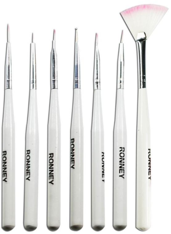 Set di pennelli per nail design, RN 00470 - Ronney Professional (7pz)