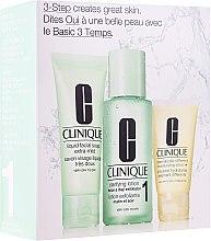 Profumi e cosmetici Set - Clinique 3-Step System Type I (soap/50ml + lot/100ml + lot/30ml)