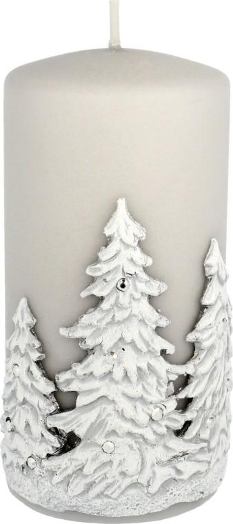 "Candela decorativa ""Alberi di Natale"", grigia, 7x14 cm - Artman Christmas Tree Candle — foto N1"