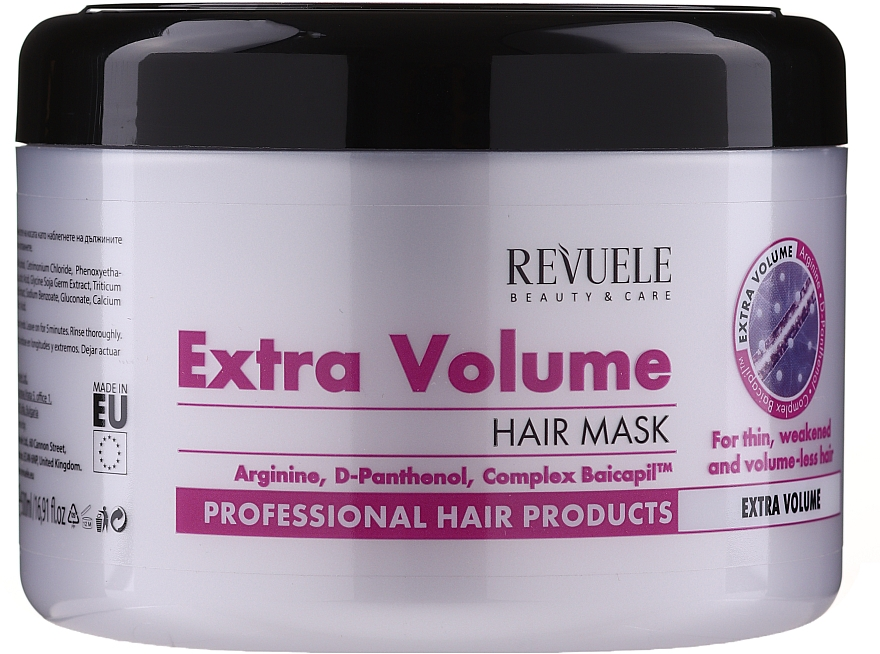 """Maschera per capelli """"Extra-volume"""" - Revuele Professional Hair Products Extra Volume Hair Mask"""