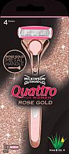 Profumi e cosmetici Rasoio + 1 lametta sostituibile - Wilkinson Sword Quattro for Women Rose Gold