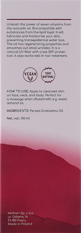 Olio naturale di avocado - Mohani Avocado Oil — foto N2