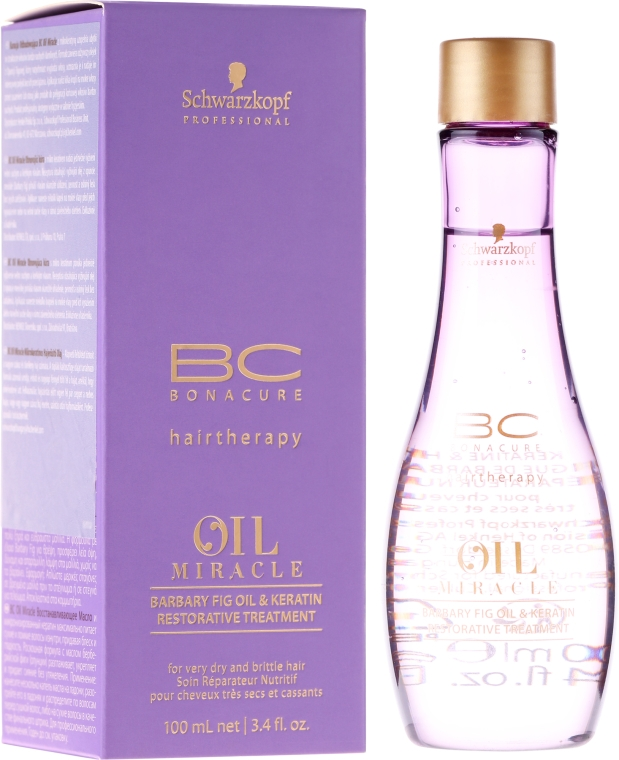 Olio rigenerante con olio e cheratina - Schwarzkopf Professional Bonacure Oil & Micro Keratin