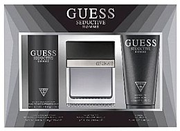 Profumi e cosmetici Guess Seductive Homme - Set (Edt/100 + deo/spray/226ml + sh/gel/200ml)