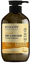 """Profumi e cosmetici Crema mani e corpo """"SOS Nutrizione profonda. Marula, kukui e pantenolo"""" - Ecolatier Urban Nourishing Body & Hand Cream"""