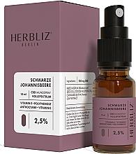 """Profumi e cosmetici Olio-spray collutorio """"Ribes nero"""" 2.5% - Herbliz CBD Oil Mouth Spray 2,5%"""