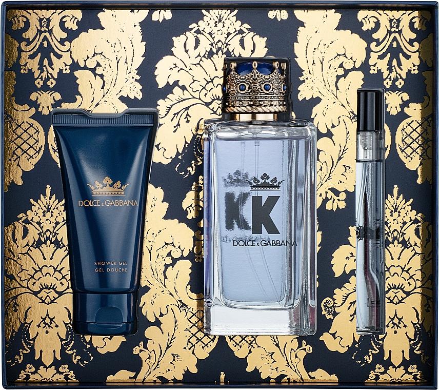 Dolce&Gabbana K by Dolce&Gabbana - Set (edt/100ml + sh/gel/50ml + edt/mini/10ml)