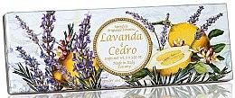 """Profumi e cosmetici Set di sapone naturale """"Lavanda e cedro"""" - Saponificio Artigianale Fiorentino Capri Lavender & Cedar (3 x 100g)"""
