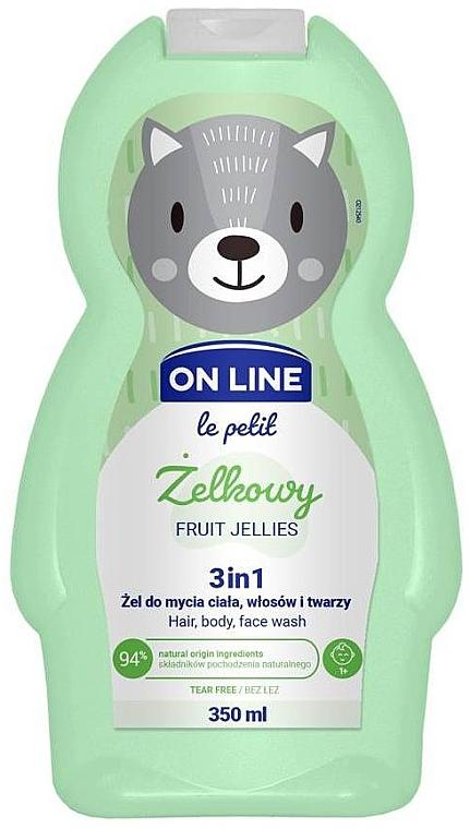 "Bagnodoccia per bambini ""Gelatina di frutta"" - On Line Le Petit Fruit Jellies 3 In 1 Hair Body Face Wash"