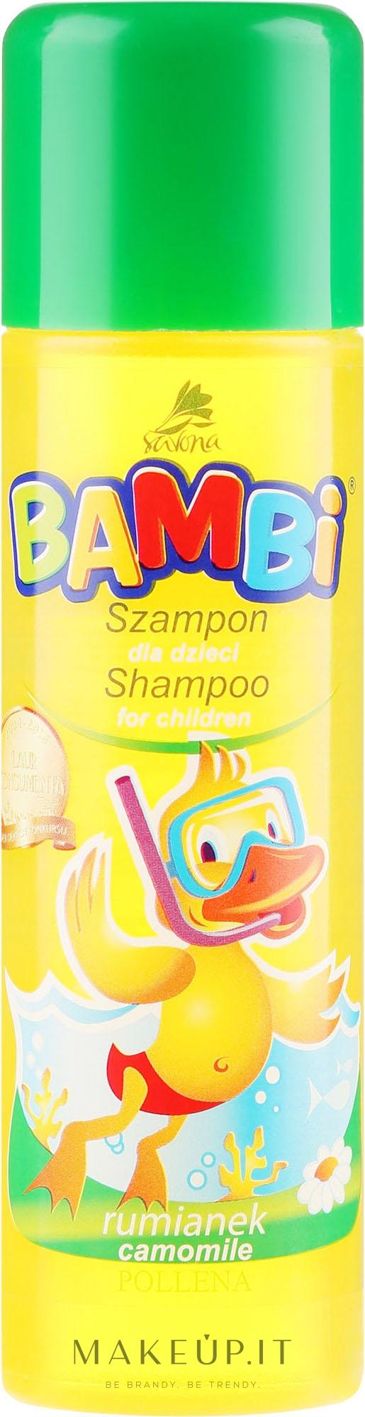 Shampoo alla camomilla per bambini - Pollena Savona Bambi Chamomile Shampoo — foto 150 ml