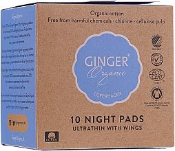 Profumi e cosmetici Assorbenti da notte, 10 pz - Ginger Organic