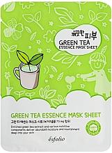 Profumi e cosmetici Maschera al tè verde - Esfolio Pure Skin Green Tea Essence Mask Sheet