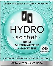 Profumi e cosmetici Crema multi idratante opacizzante viso - AA Hydro Sorbet Moisturising & Mattifying Cream
