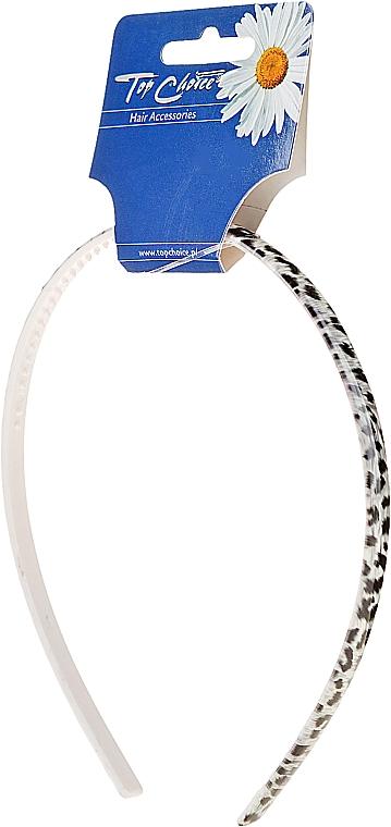 Cerchietto per capelli 27543, grigio-nero - Top Choice