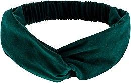 """Profumi e cosmetici Fascia per capelli, annodata, verde smeraldo """"Knit Twist"""" - MakeUp Hair Accessories"""