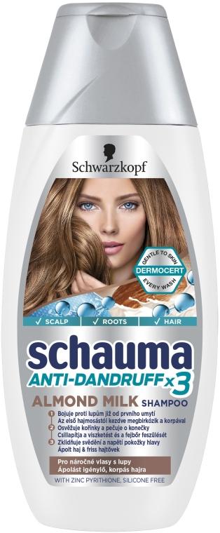"""Shampoo antiforfora """"Latte alle mandorle"""" - Schwarzkopf Schauma Anti-Dandruff x3 Almond Milk"""