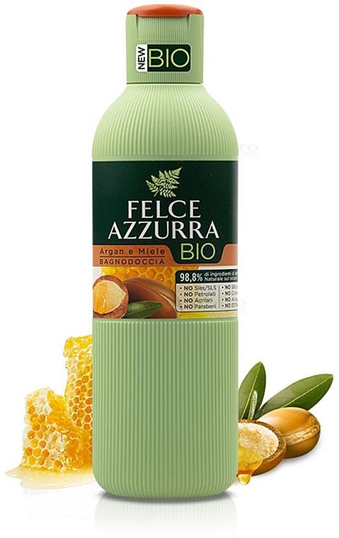 """Bagnoschiuma """"Olio di Argan e Miele"""" - Felce Azzurra BIO Argan & Honey Shower Gel"""