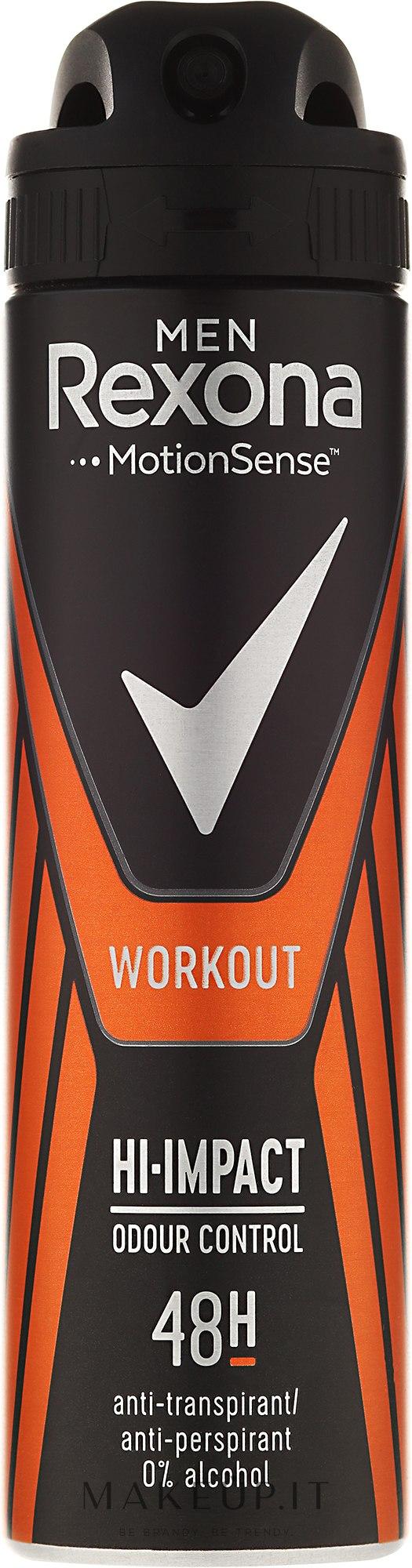 Deodorante spray - Rexona Men Motionsense Workout Hi-impact 48h Anti-perspirant — foto 150 ml