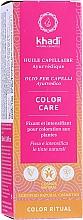 Profumi e cosmetici Olio capelli ayurvedico - Khadi Ayurvedic Color Care Hair Oil