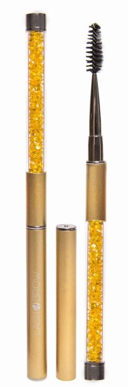 Spazzola per ciglia e sopracciglia, dorato - Lash Brow Gold