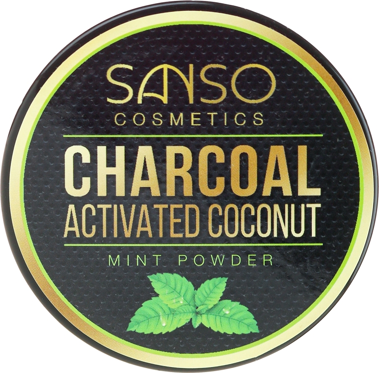 Dentifricio sbiancante in polvere - Sanso Cosmetics Charcoal Activated Coconut Mint Powder
